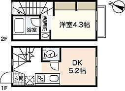 [タウンハウス] 広島県広島市東区戸坂くるめ木2丁目 の賃貸【/】の間取り