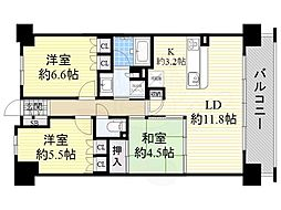 JR大阪環状線 京橋駅 徒歩11分の賃貸マンション 5階3LDKの間取り