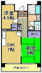 サンラフレ出来島3号棟[7階]の間取り