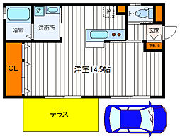 [一戸建] 東京都福生市大字熊川 の賃貸【/】の間取り