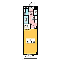 Villa 花水木[1階]の間取り