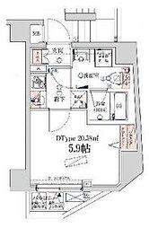 VERXEED横濱WEST[3階]の間取り