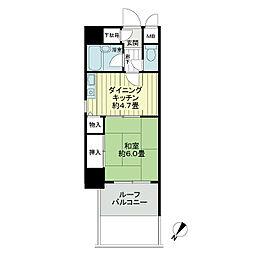 ライオンズマンション薬院駅南[3階]の間取り