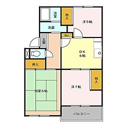 埼玉県さいたま市浦和区木崎2丁目の賃貸アパートの間取り