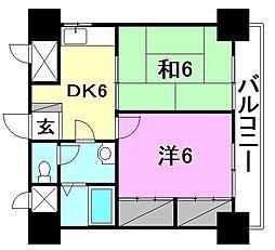 今井マンション[405 号室号室]の間取り