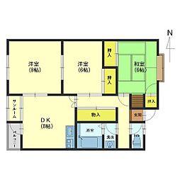 サンシャインEBARA A[205号室]の間取り