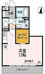 広島県福山市東深津町3の賃貸アパートの間取り
