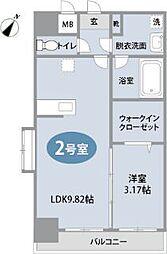 Shine博多駅東[502号室]の間取り
