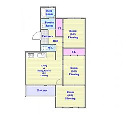 塩屋住宅[4階]の間取り