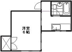 タカタハイツ近江[2階]の間取り