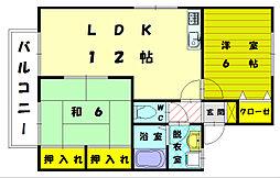 エクレール渋田I[1階]の間取り