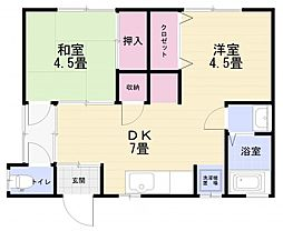 [一戸建] 神奈川県横須賀市坂本町5丁目 の賃貸【/】の間取り