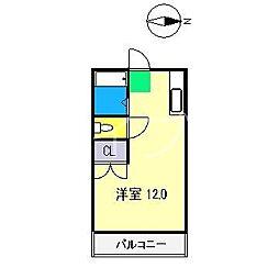クラウン朝倉[1階]の間取り