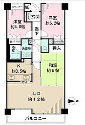 藤和シティコープ茅ヶ崎東海岸[2階]の間取り