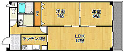 ヘリテージ武庫之荘[3階]の間取り