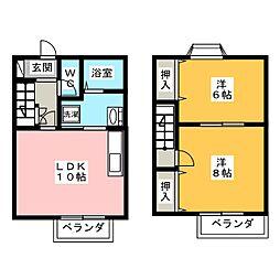 [テラスハウス] 愛知県江南市宮後町砂場西 の賃貸【/】の間取り