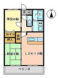 K's2002[410号室号室]の間取り