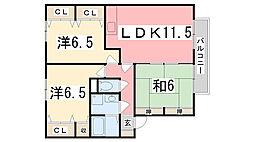 サンアベニュー田寺[103号室]の間取り