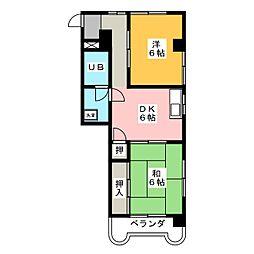 大洞ビル[5階]の間取り