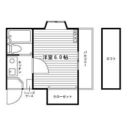 福岡県福岡市城南区松山1丁目の賃貸アパートの間取り