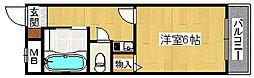 エミエール堺[4階]の間取り