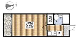 あずまマンション[402号室]の間取り