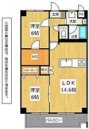 Merveille Ishida[2階]の間取り