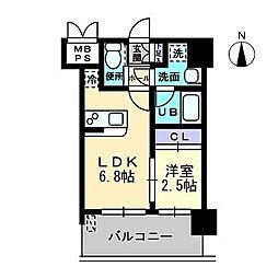 ラ・エスパシオ箱崎[4階]の間取り