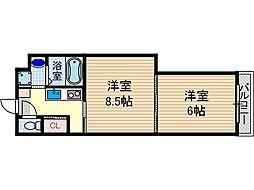 学生会館GrandEterna大阪[3階]の間取り