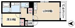 FlorestaHonjin 2階1LDKの間取り