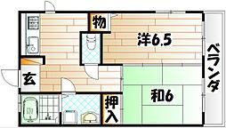 エクレール中井[8階]の間取り