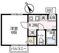 仮称フィカーサ片倉[202号室号室]の間取り