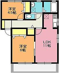 グリーンスクェアB棟[1階]の間取り
