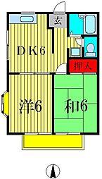 サマックスMY A棟[1階]の間取り