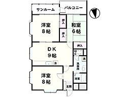田村レジデンス[601号室]の間取り