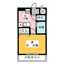コーポ社台[2階]の間取り