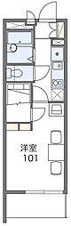 京阪本線 門真市駅 徒歩9分の賃貸マンション 1階1Kの間取り