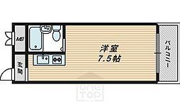 京阪グローリーハイツ[4階]の間取り