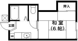滋賀県近江八幡市音羽町の賃貸アパートの間取り
