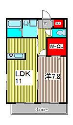 サンハイムテスタII[2階]の間取り