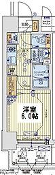 レオンコンフォート京橋EAST 4階1Kの間取り