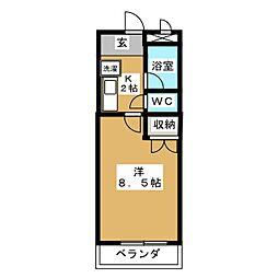 コーポノリクラA棟[1階]の間取り