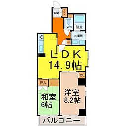 エクレール鶴舞[2階]の間取り