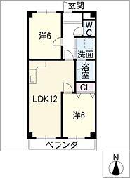 サンウイング加賀[3階]の間取り