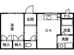 望ハイツ[1階]の間取り