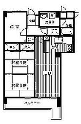 福岡県福岡市中央区桜坂3丁目の賃貸マンションの間取り