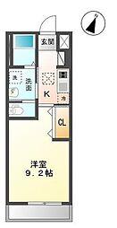 木更津市真舟5丁目新築アパート[107号室]の間取り
