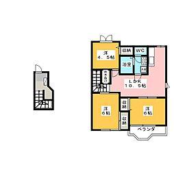 レインボー21 B棟[2階]の間取り