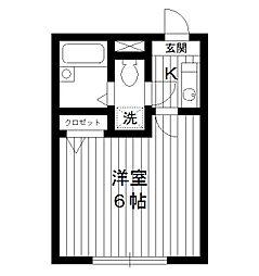 東京都板橋区大谷口2丁目の賃貸アパートの間取り
