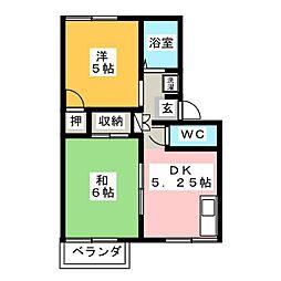 グリーンシティミナミ[2階]の間取り